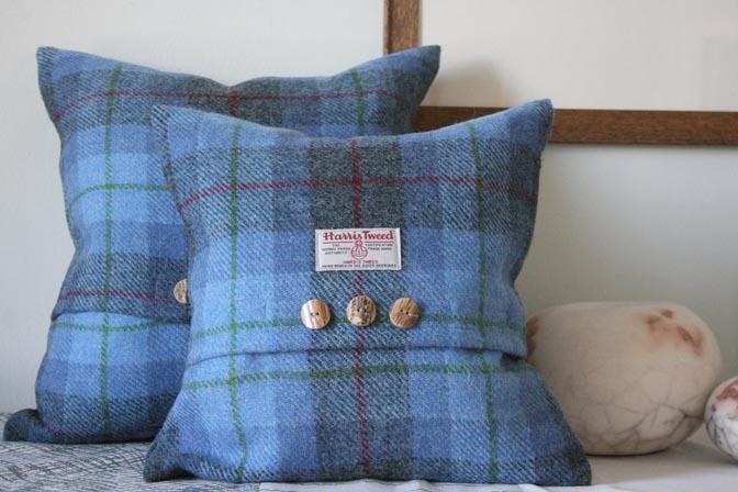 Bluebell Harris Tweed Cushion (Small)