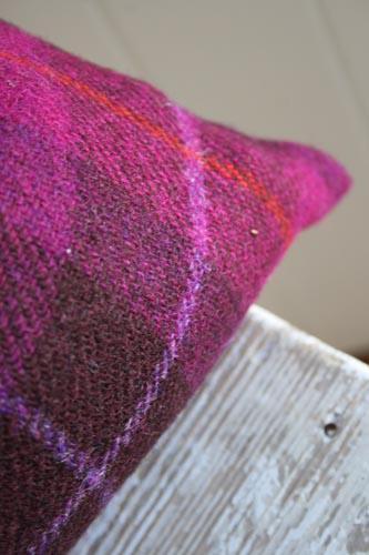 Wild Foxglove Harris Tweed Cushion (Large)