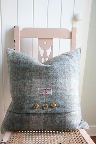 Dove Dawn Harris Tweed Cushion (Large)