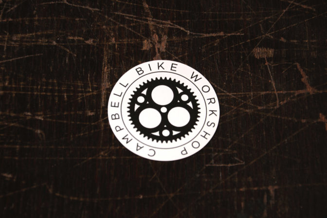 Campbell Bike Workshop logo sticker