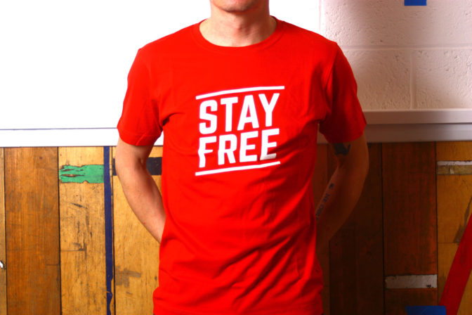 CBW Stay Free t-shirt
